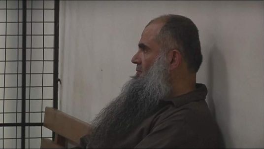 Abu Qatada in court in Jordan