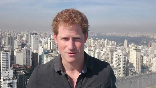 Prince Harry records a thank you message to the people of Brazil.