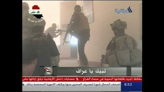 IRAQ state tv footage of operation in Tikrit