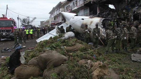 Scene of Nairobi, Kenya plane crash