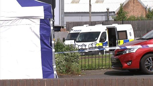 Police activity in the Sparkbrook area of Birmingham following a fatal shooting