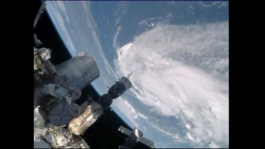 NASA screengrab of Tropical Storm Arthur