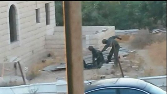 Tareq Abu Khadair allegedly being attacked by Israeli police