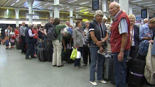 Passengers on Monday