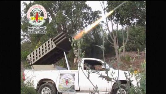 Gaza based militants release footage of purported rocket attacks
