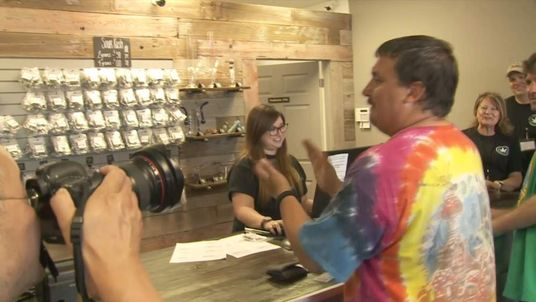 Spokane's first cannabis customer, Michael Kelly Boyer
