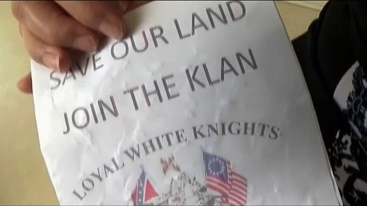 KKK deliver candy to homes in Seneca, South Carolina