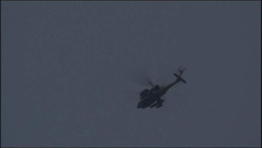 Israel attack helicopter over Gaza