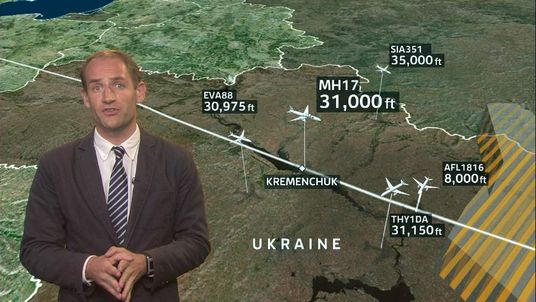 Tom Cheshire explains Flight MH17's flight path
