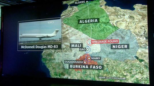Wreckage found in search for missing flight