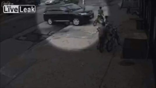 Boy slammed through shopfront by SUV