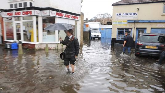 Flooding in Worthing, West Sussex