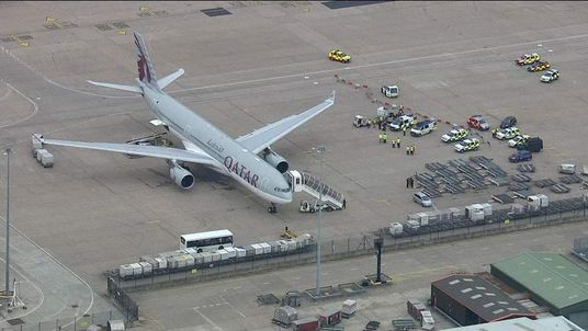 Qatar Airlines plane at centre of an alleged bomb hoax