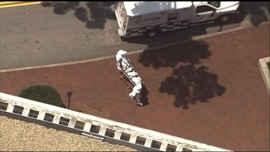 US Ebola sufferer Nancy Writebol arrives at an Atlanta Hospital