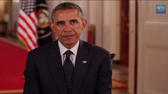 President Obama Making His Weekly Address