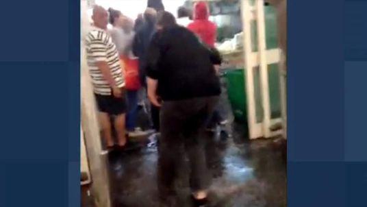Sittingbourne, Kent, Asda supermarket flooded