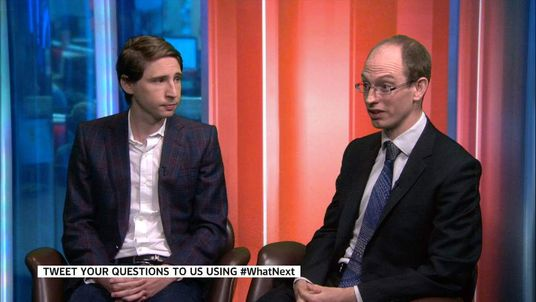 Entrepreneur Dominic McVey (left) and Jude Heaton of the charity Teach First