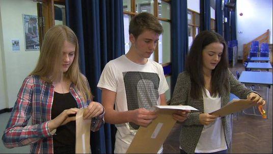 Kids get GCSE results