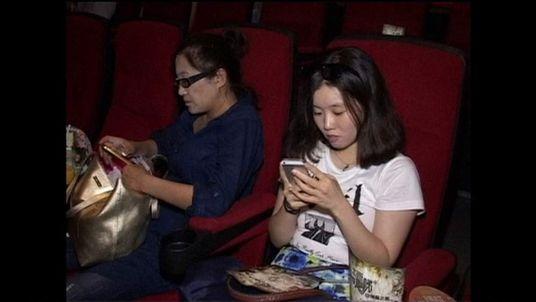 Texting at the cinema