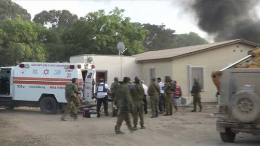 An intensive care ambulance was sent to the scene in Sdot Negev