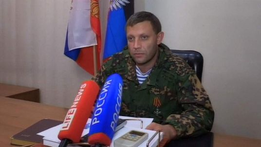 LEADER, DONETSK PEOPLE'S REPUBLIC ALEXANDER ZAKHARACHENKO