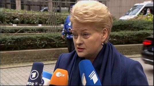 LITHUANIAN PRESIDENT DARLIA GRYBAUSKAITE