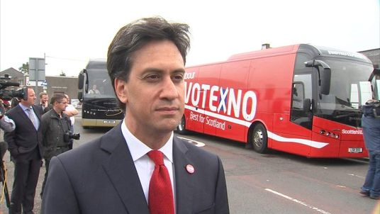 Ed Miliband on the Better Together campaign trail in Scotland