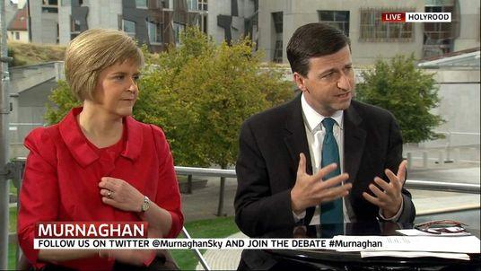 Scotland's Deputy First Minister Nicola Sturgeon and Shadow foreign secretary Douglas Alexander