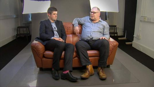 Sofa debate father and son Kevin and Brendan McKenna