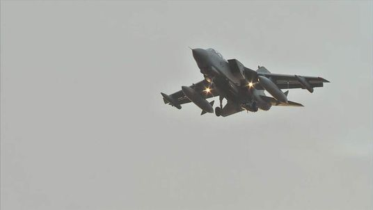 An RAF Tornado returns to RAF Akrotiri after a sortie over Iraq