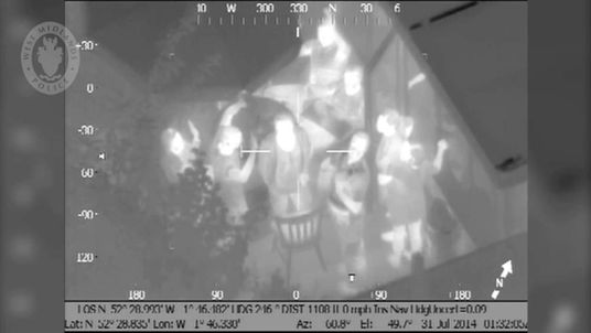 Laser pen lout Chris Vowles caught by the West Mids Police helicopter