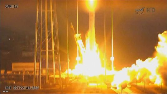 NASA images show rocket launch blast