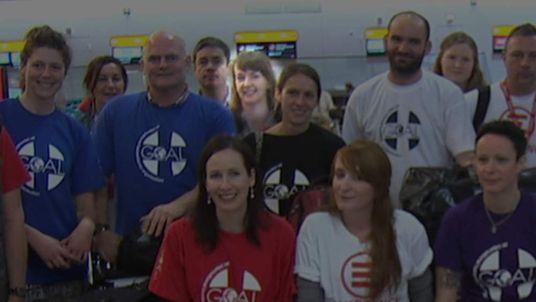 Pauline Cafferkey as she left Heathrow for Sierra Leone on 22 November