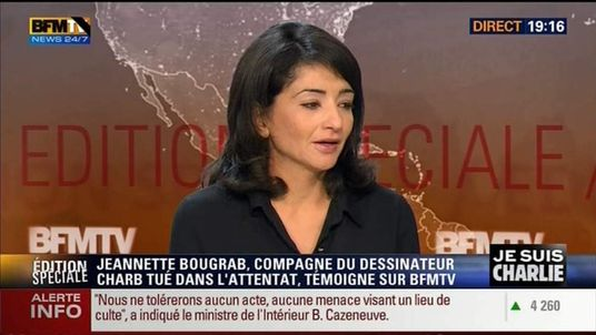 Stephane Charbonnier's partner Jeannette Bougrab