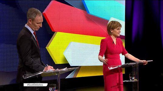 NICOLA STURGEON AND JIM MURPHY IN THE SCOTLAND ELECTION DEBATE