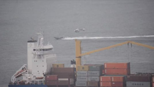 Spanish helicopter and police vessel in British territorial waters off Gibraltar