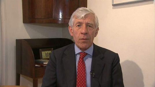Ex-Home Secretary Jack Straw talking to Sky News