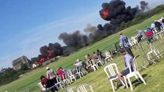 Plane Crashes At Shoreham Airshow.
