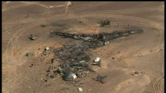 Metrojet crash aerial footage