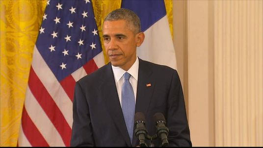 President Obama Holds A Press Conference With President Hollande