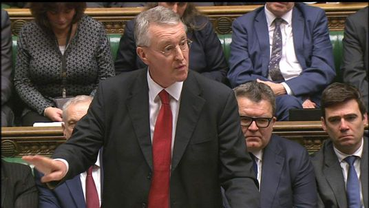 Shadow foreign secretary Hilary Benn MP