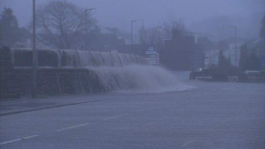 Flooding in Keswick As Storm Desmond Hits