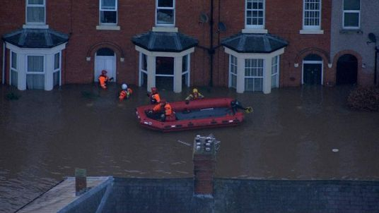 Cumbria Flooding Aerial Shots