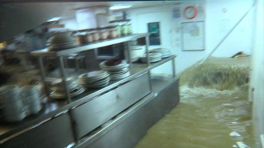 Flood water in kitchen