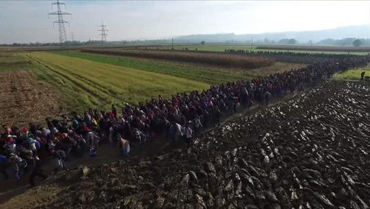 A human tide of migrants enters Europe