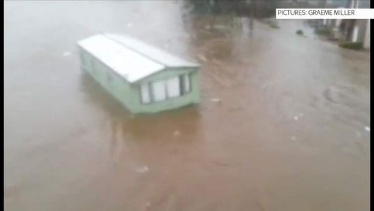 Picture From Graeme Miller showing flooding in Aberdeenshire