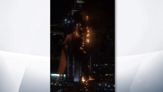 Fire at a Dubai hotel