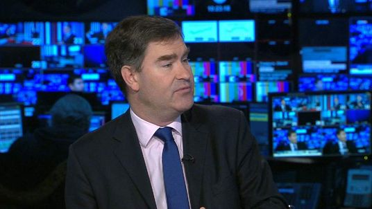 Treasury Minister David Gauke talking to Sky News about flood defence spending