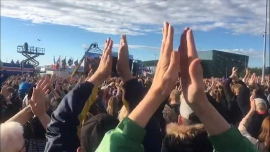 Viking thunderclap welcome home for iceland