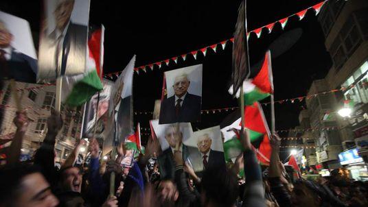 PALESTINIANS-DIPLOMACY-UN-ISRAEL-CELEBRATIONS